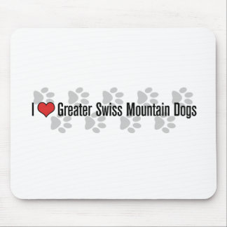 I heart Greater Swiss Mountain Dogs Mousepads