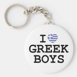I Heart Greek Boys Key Ring
