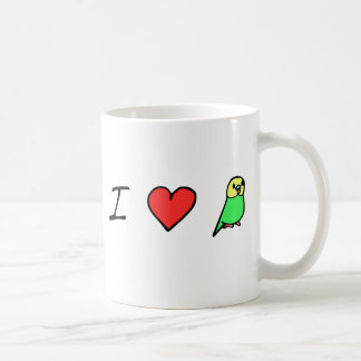 I Heart (Green) Budgies Mug
