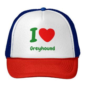 I Heart Greyhound Cap