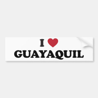 I Heart Guayaquil Ecuador Bumper Sticker