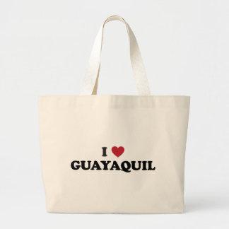 I Heart Guayaquil Ecuador Jumbo Tote Bag