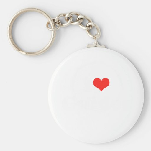 I Heart Guidos Basic Round Button Key Ring