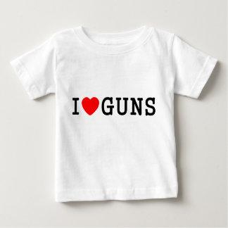 I Heart Guns Baby T-Shirt