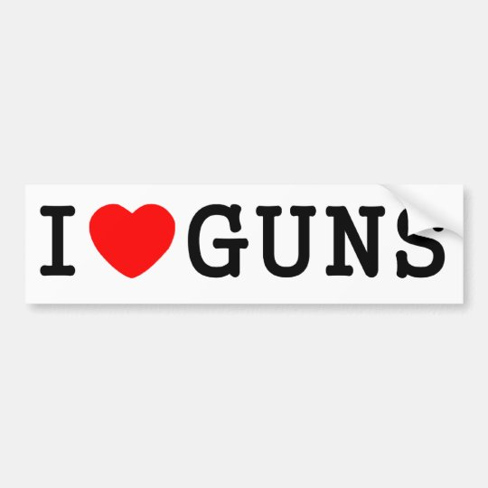 I Heart Guns Bumper Sticker