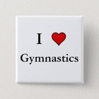 I Heart Gymnastics 15 Cm Square Badge