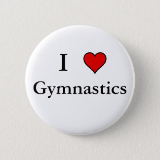 I Heart Gymnastics 6 Cm Round Badge