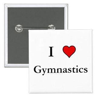 I Heart Gymnastics Pinback Button