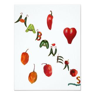 I Heart Habaneros 11 Cm X 14 Cm Invitation Card