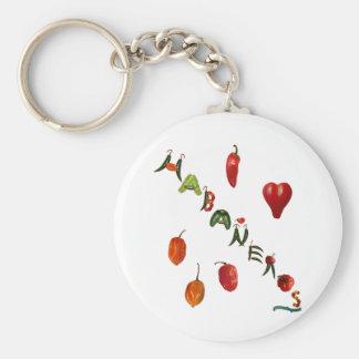 I Heart Habaneros Basic Round Button Key Ring