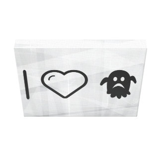 I Heart Halloween Faces Gallery Wrapped Canvas