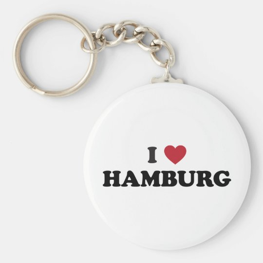 i Heart Hamburg Germany Key Ring