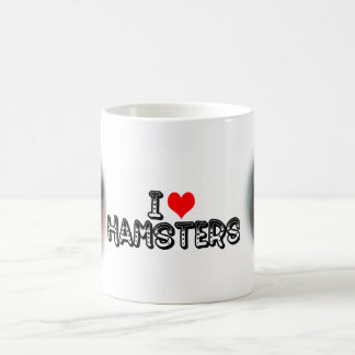 I (heart) hamsters basic white mug