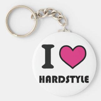 i heart hardstyle basic round button key ring