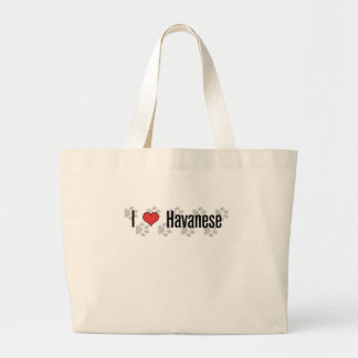 I (heart) Havanese Large Tote Bag