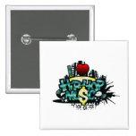 I Heart Hip Hop Music 15 Cm Square Badge
