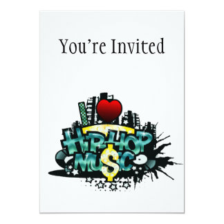 I Heart Hip Hop Music Personalized Invite