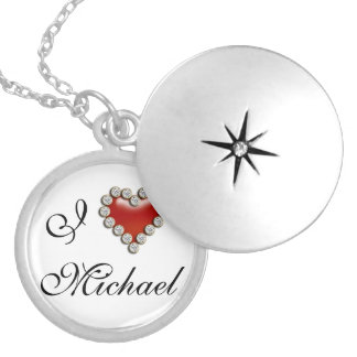I heart his her name jewelry