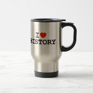 I Heart History Stainless Steel Travel Mug