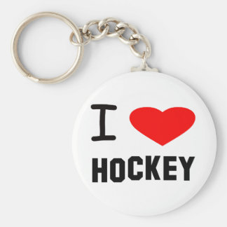 I Heart Hockey Key Ring