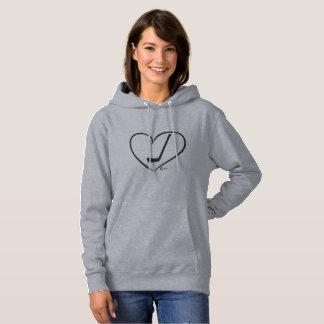 I Heart hockey Sweatshirt