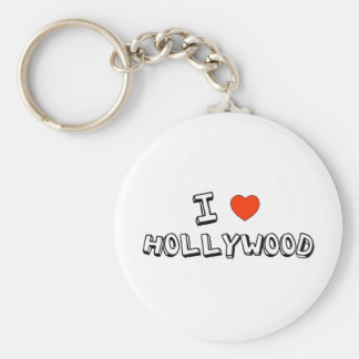 I Heart Hollywood Basic Round Button Key Ring
