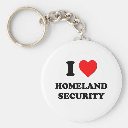 I Heart Homeland Security Basic Round Button Key Ring