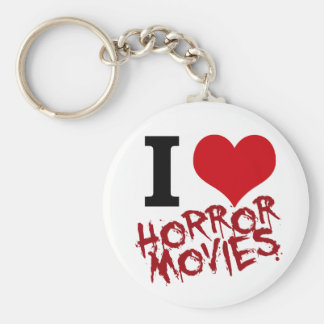 i heart horror movies key ring