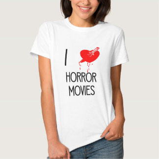 I heart horror movies shirts