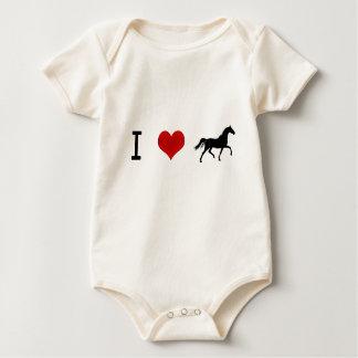 I heart Horses Baby Bodysuit