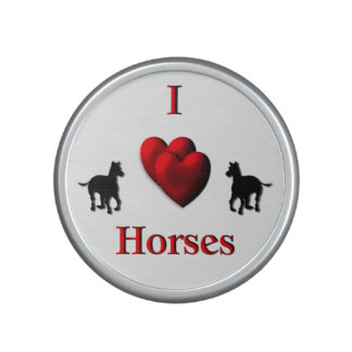 I Heart Horses Bluetooth Speaker