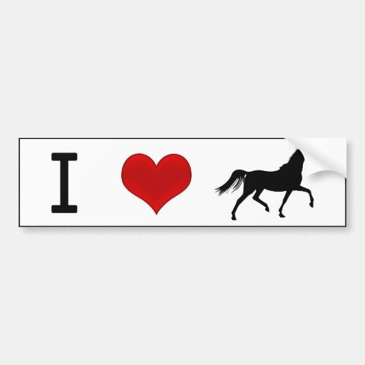 I Heart Horses Car Bumper Sticker