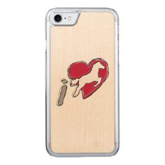 i HEART HORSES Carved iPhone 8/7 Case