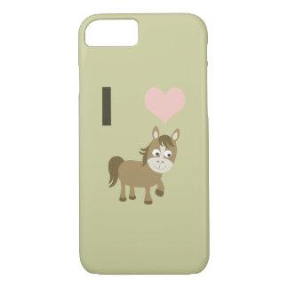 I heart horses iPhone 7 case