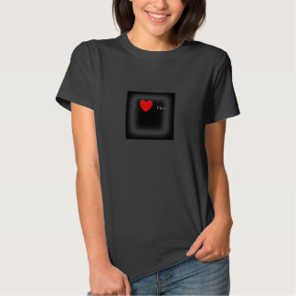 I heart Horses Ladies Hanes tee shirt