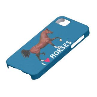 I Heart Horses Love Equine Art iPhone 5 Case