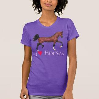 I Heart Horses Love Horses Trotting Bay Arab Tee