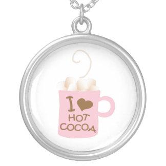 I heart hot cocoa necklace