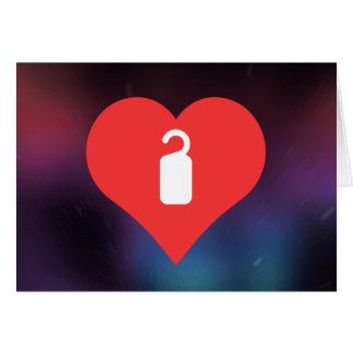 I Heart Hotel Door Hangers Icon Greeting Card