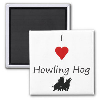 I Heart Howling Hog Barbecue Fridge Magnet