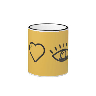 I Heart Human Eyes Ringer Mug