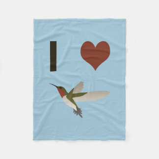 I heart Hummingbirds Fleece Blanket