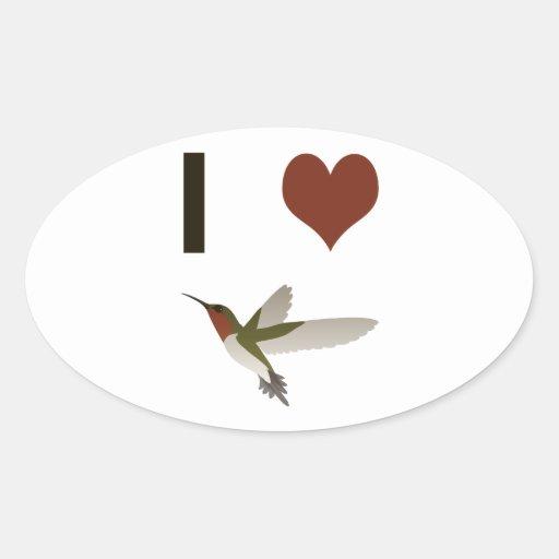 I heart Hummingbirds Sticker