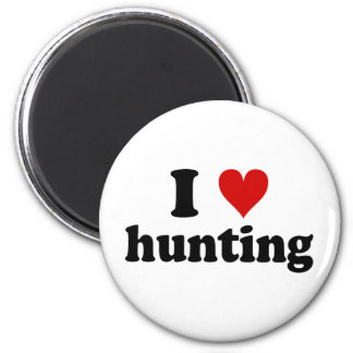 I Heart Hunting 6 Cm Round Magnet