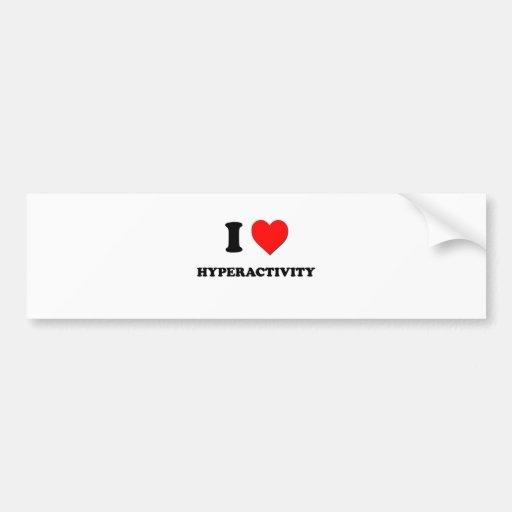 I Heart Hyperactivity Bumper Sticker