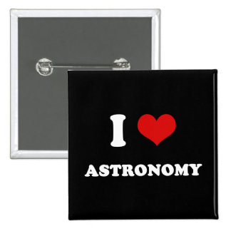 I Heart I Love Astronomy 15 Cm Square Badge