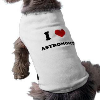 I Heart I Love Astronomy Dog Clothing