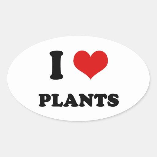 I Heart I Love Plants Sticker