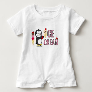 I Heart Ice Cream! Baby Bodysuit