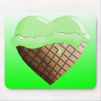 I (Heart) Ice Cream! Lime Green Mouse Pad